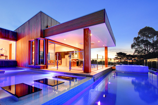 Warragul pool house by design unity contemporary pool for Modern house design melbourne