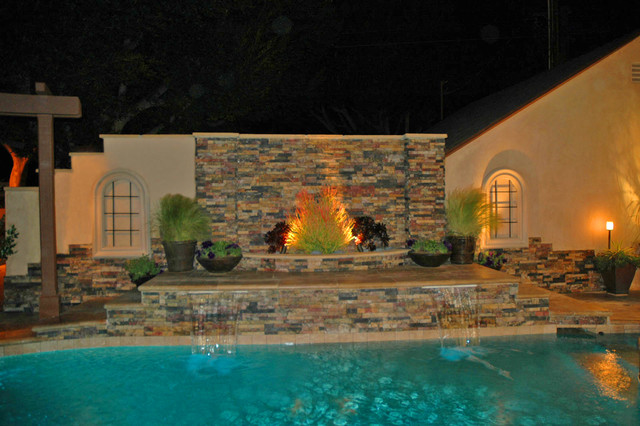 Water Feature On Pool Contemporary Pool Los Angeles By Outdoors And Beyond Inc