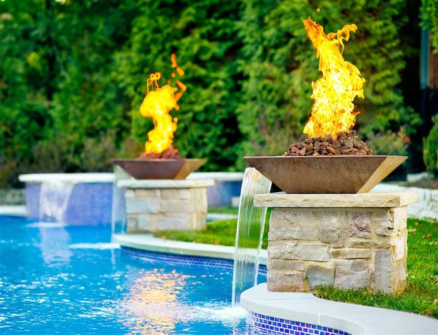 Water Features Amp Fire Features Contemporary Pool