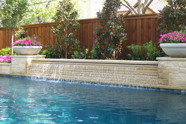 Water Features Traditional Pool Dallas By Pool Environments Inc