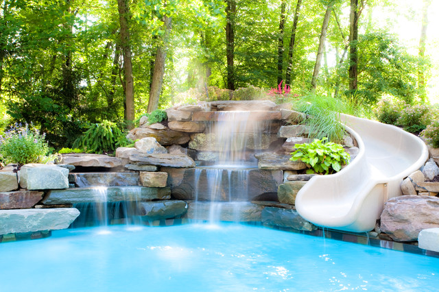 Water Features Traditional Pool New York By Thomas Flint Landscape Design amp Development