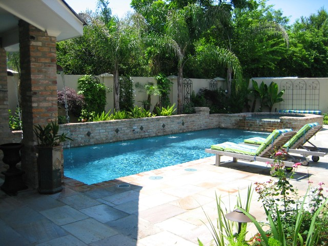 Water Garden Modern Swimming Pool Hot Tub New Orleans By