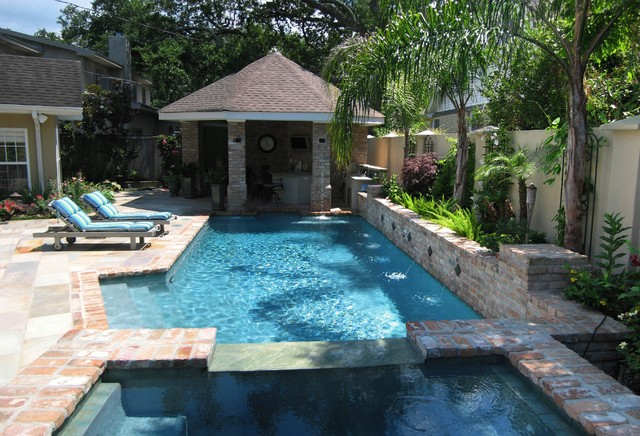 Water garden modern pool new orleans by ferris for Pool garden outlet