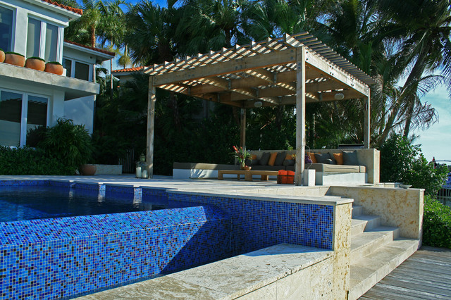 Water garden oasis modern pool miami by lewis aq i for Garden oases pool entrance