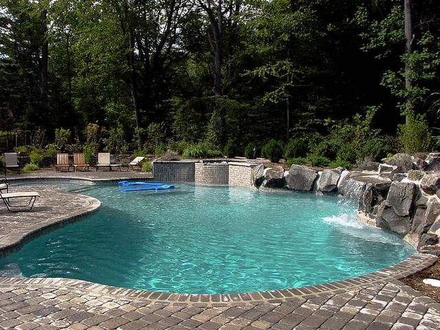 Waterfalls Contemporary Pool Newark By Chatham