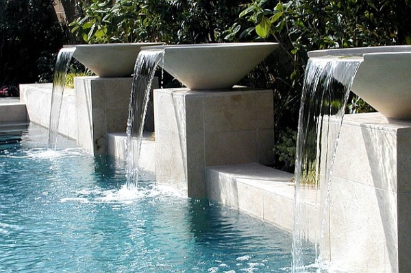 Waterfalls Ideas for your Backyard Pool Remodel - Modern - Pool ...