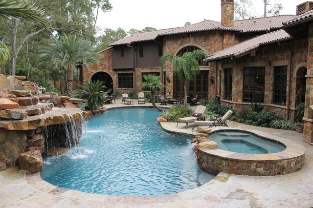 Watts Pool Company Tropical Breeze Pebble Tec Traditional
