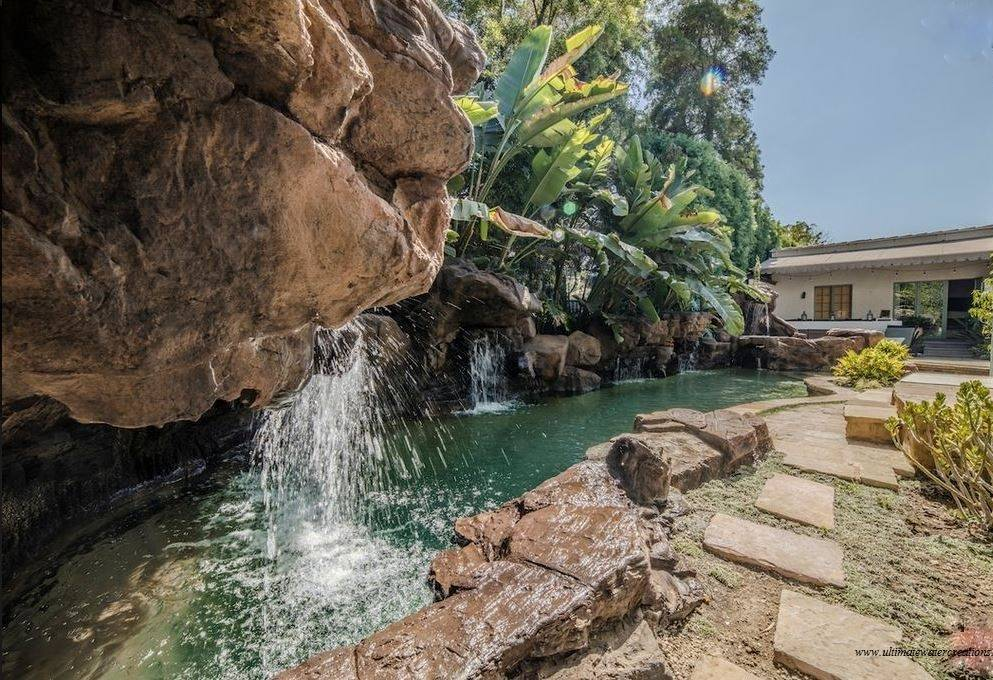 West Hollywood - Naturalistic Pool and Spa with Waterfalls and Baja Ledge