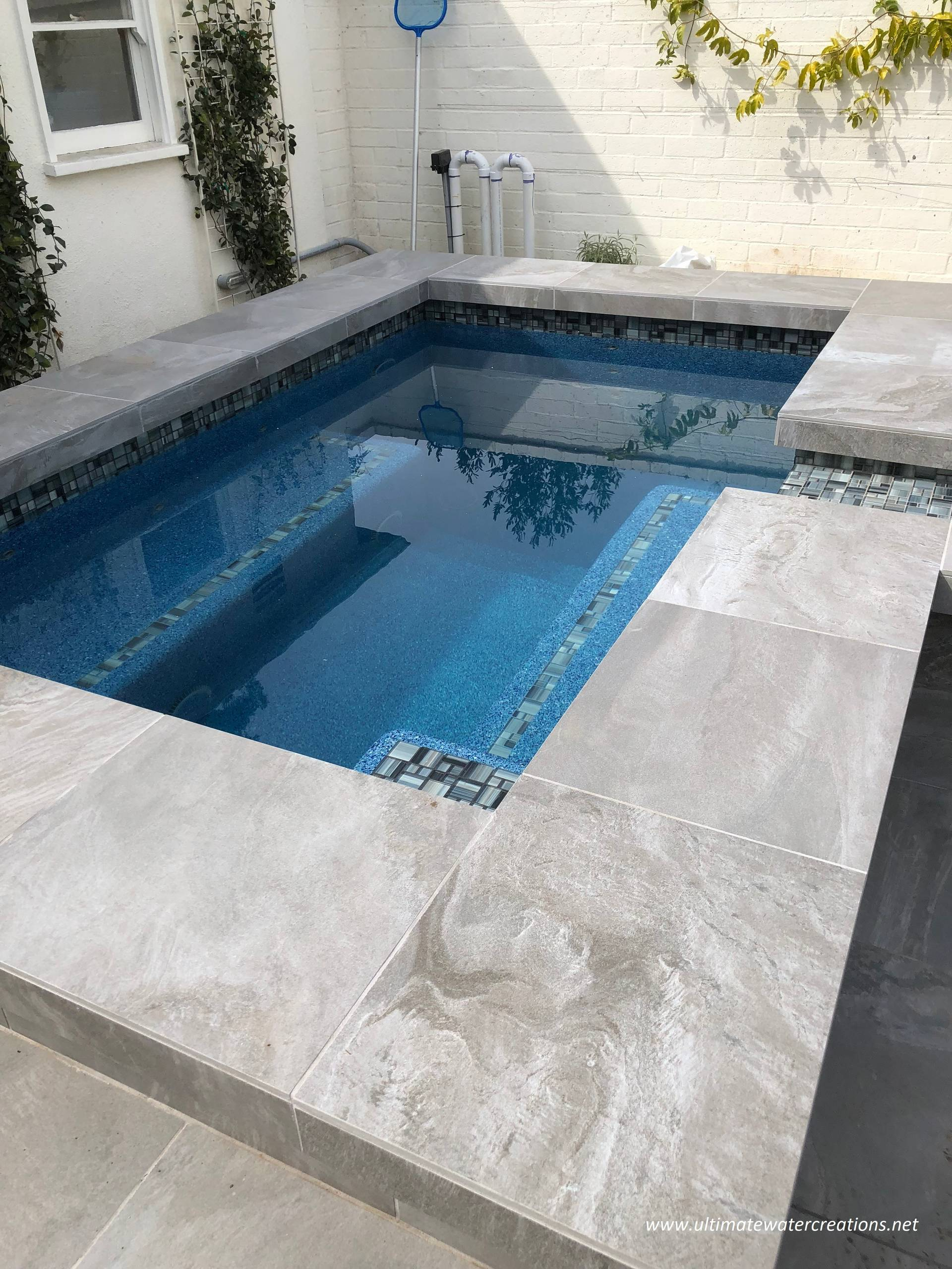 West Los Angeles - Contemporary Pool Remodel & New Spa