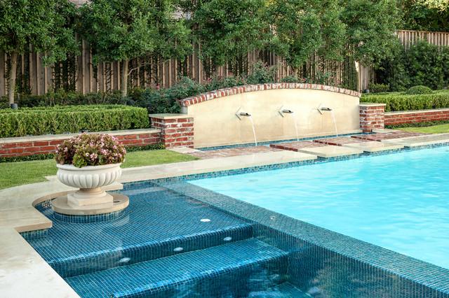 West university landscaping traditional pool houston for Houston pool design