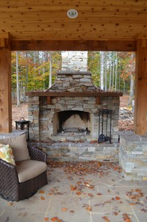 Western Red Cedar Pavilion and Fireplace