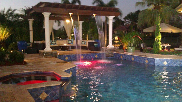 Weston florida windmill ranches mediterranean swimming for Pool design naples fl