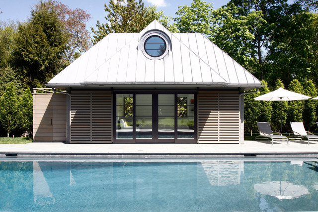Westport Pool House w Horizontal Siding and