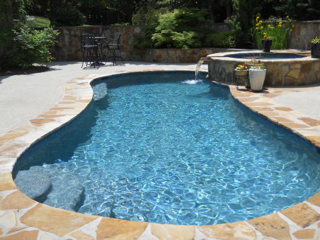 Wet edge prism matrix blue lagoon traditional pool for Pool plaster