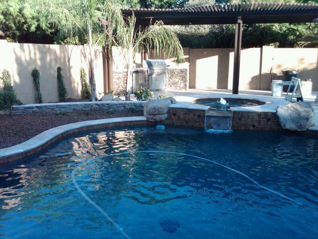 Whitaker Backyard eclectic-pool