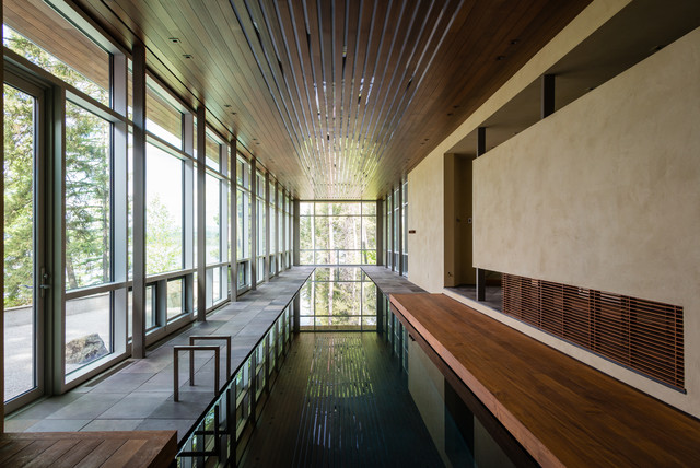 Whitefish Private Spa and Pool House contemporary-pool