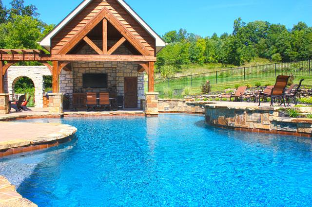 Wildwood Residential Swimming Pool In Saint Louis Mo Rustic Pool St Louis By Baker Pool