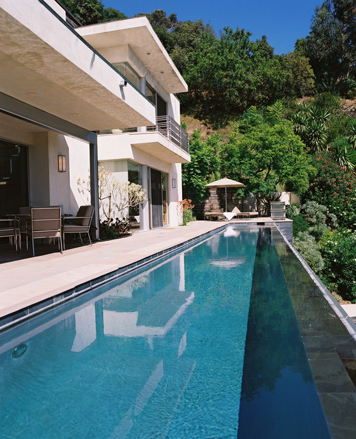 William hefner architecture interiors landscape for How to build a lap pool