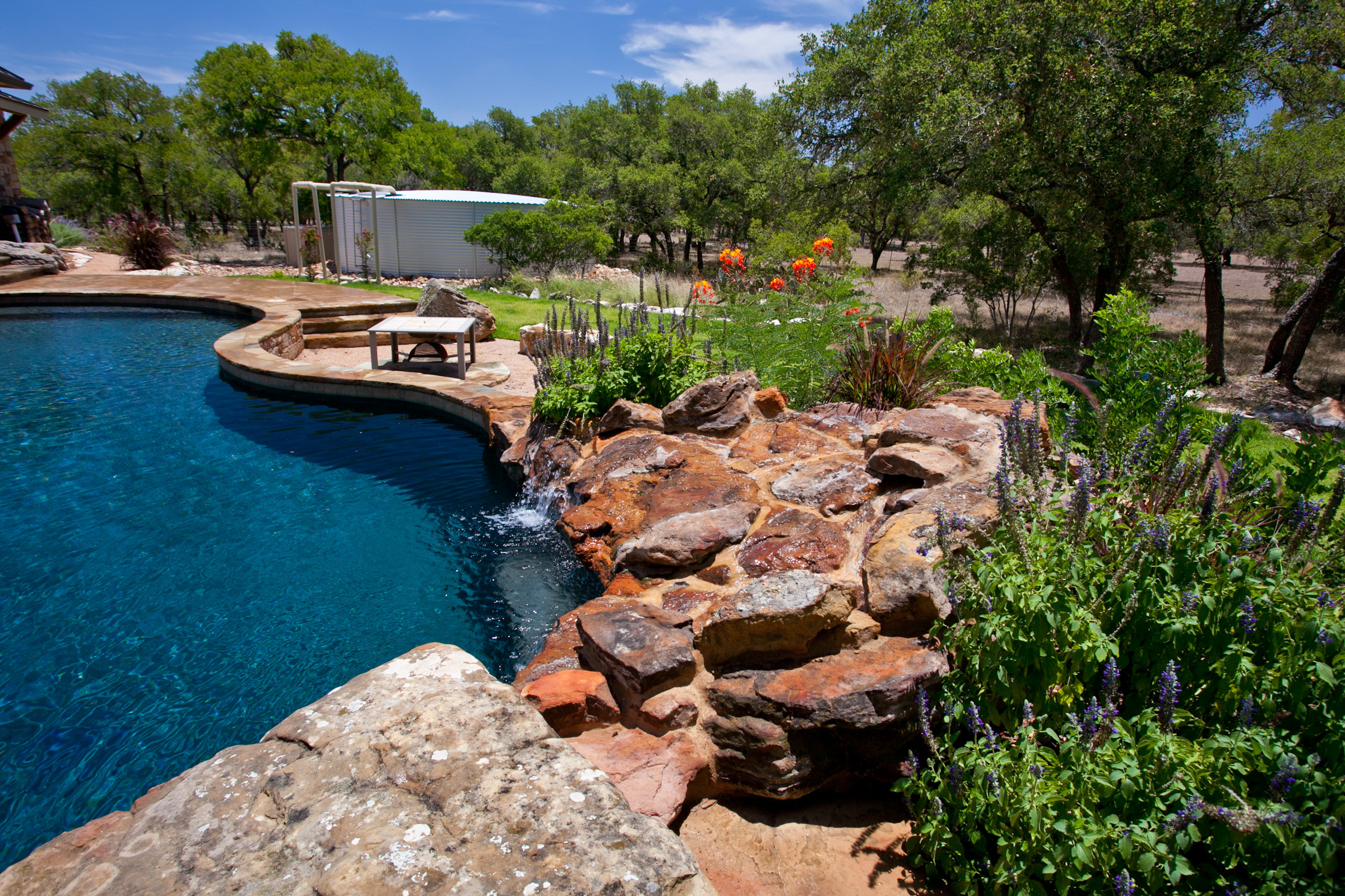 Wimberly Natural/Freeform Pool and Spa