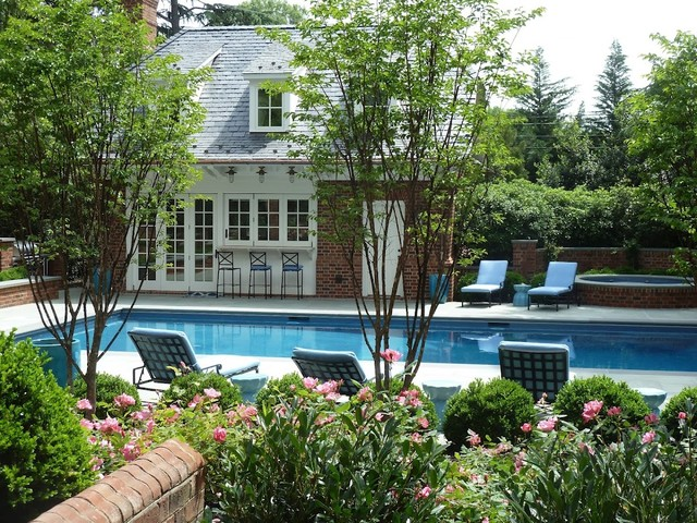 Windsor farms house traditional pool richmond for Pool design richmond va