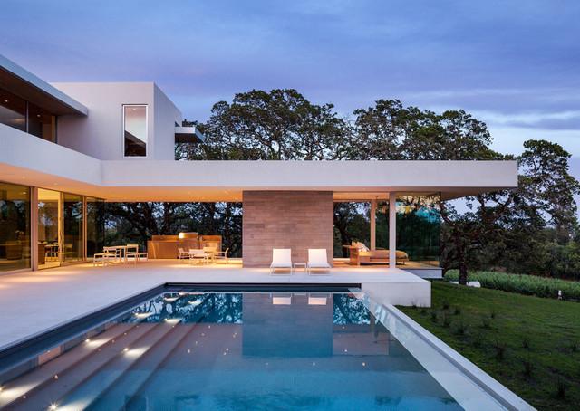 Windsor select limestone modern pool houston by for Pool design houston tx