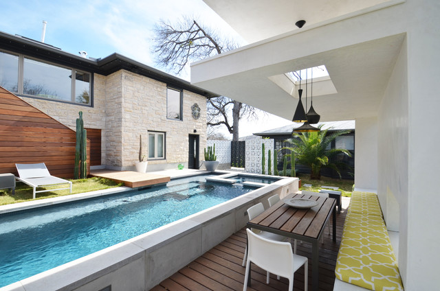Winflo Cabana and Pool contemporary-pool