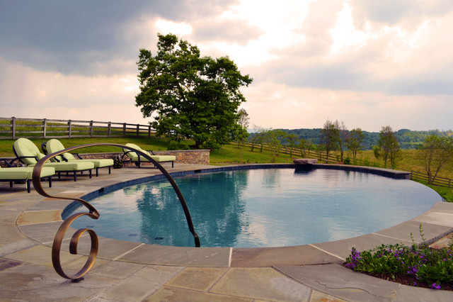Wolf Hills Farm contemporary-pool