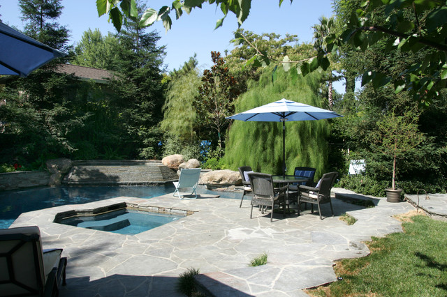 Backyard With Pool Remodel : Woodland Hills Hardscaping and Backyard Remodel  Traditional  Pool