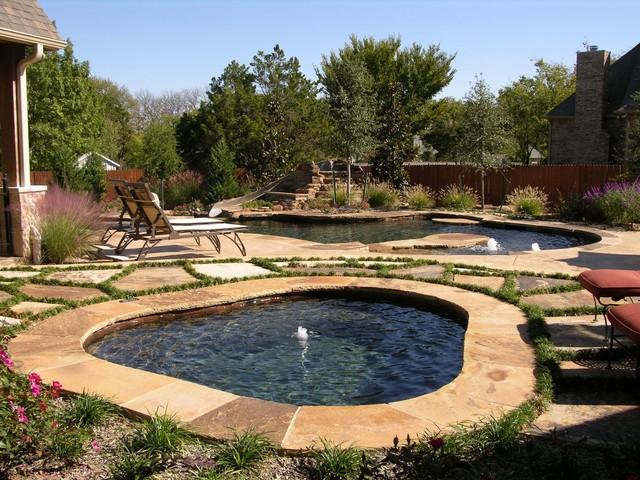 Worlds Greatest Pools Summer Entries Rustic Pool - Black pearl pebble tec pool bottom