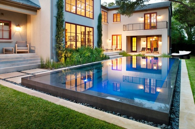 Perimeter Overflow Swimming Pool | Houzz