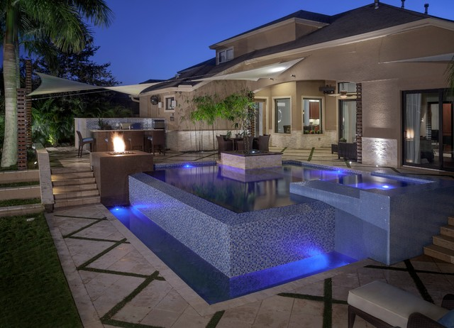 Zen contemporary pool tampa by ryan hughes for Zen pool design