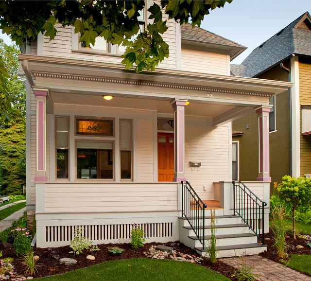 1885 victorian remodel victorian porch minneapolis for Front porch builders