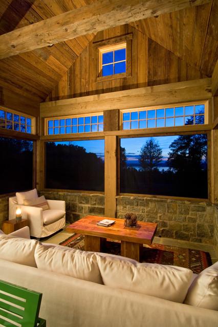 2011 Showcase - Hillside Retreat rustic-porch
