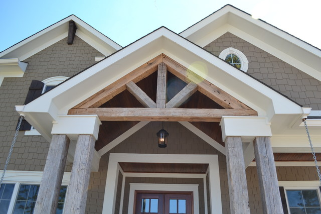 216 oak manor traditional porch indianapolis by for Open beam front porch