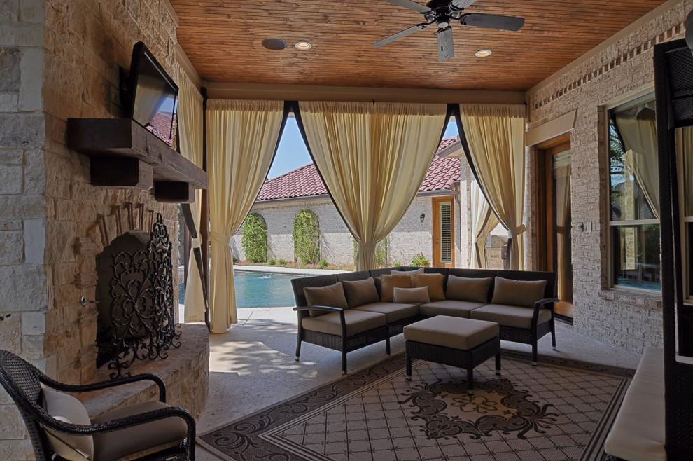 2505 Highland Park Ct Mediterranean Porch Dallas
