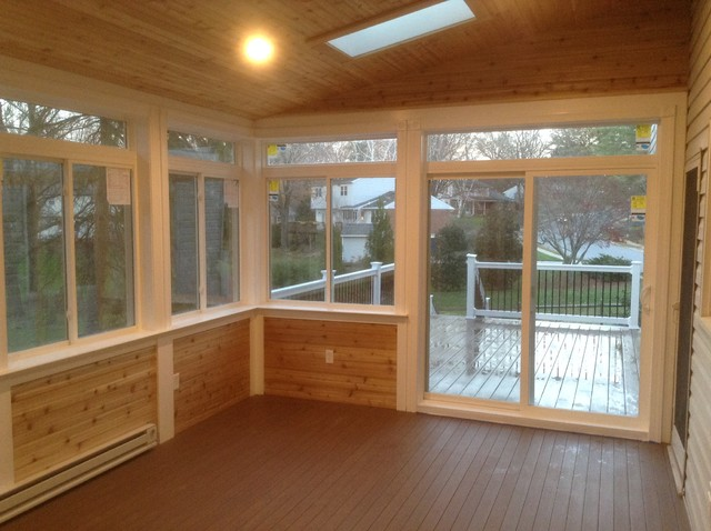 3 season room with exterior deck stamped concrete for What is a 3 season porch