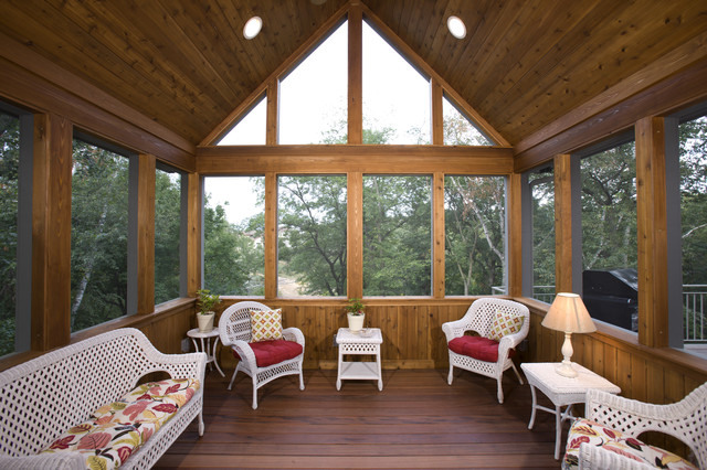 3 season screened porch rustic porch minneapolis for Four season porch plans