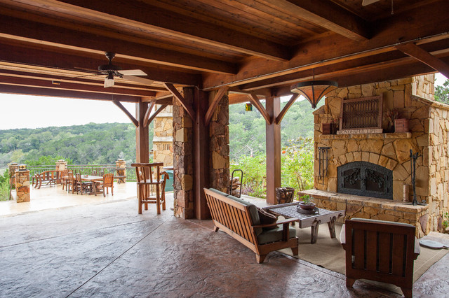 3 Story Full Timber Frame - Traditional - Veranda - Austin - by ...