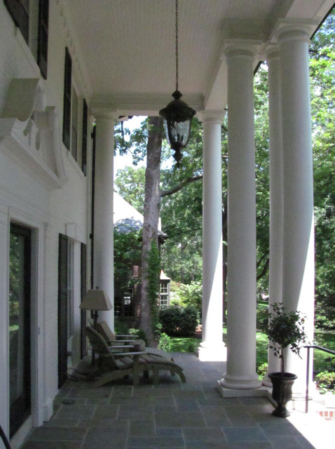 A Bigger New Front Porch traditional-porch