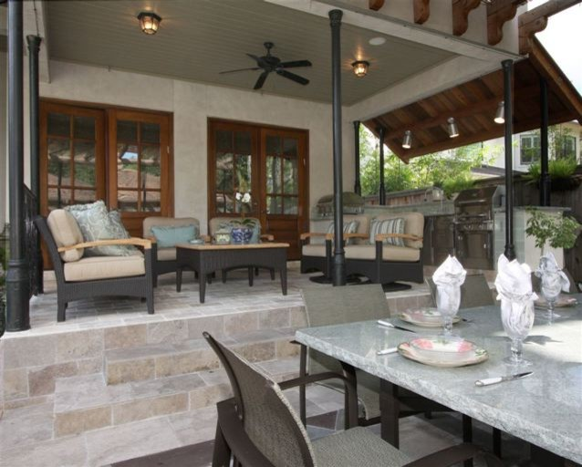 A Cooks Dream Outdoor Kitchen in Houston, TX - Traditional ...