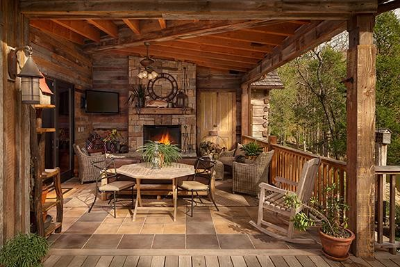 Ranch style house with front porch - Lake House Reclaimed Rustic Porch Other Metro By Johnson