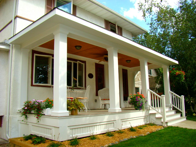A new front porch traditional porch minneapolis by for Traditional porch