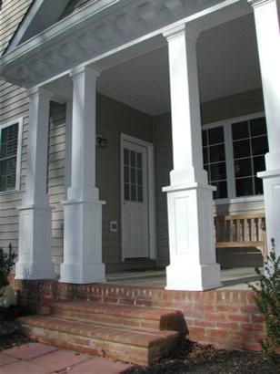 A Side Entrance Porch American