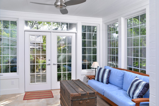 AA Historical home in University Heights Ohio has a modern new kitchen contemporary-porch