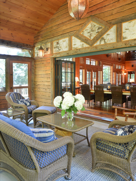 Lighting screened porch home design ideas pictures for Houzz rustic lighting