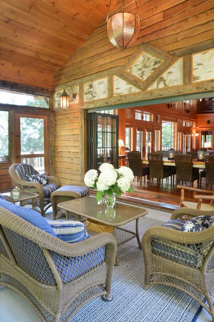 Adirondack Style Rustic Porch Boston By Elizabeth