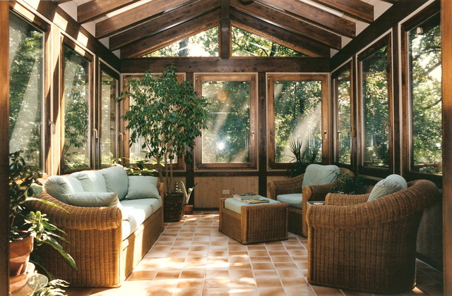 alaskan yellow cedar sunroom