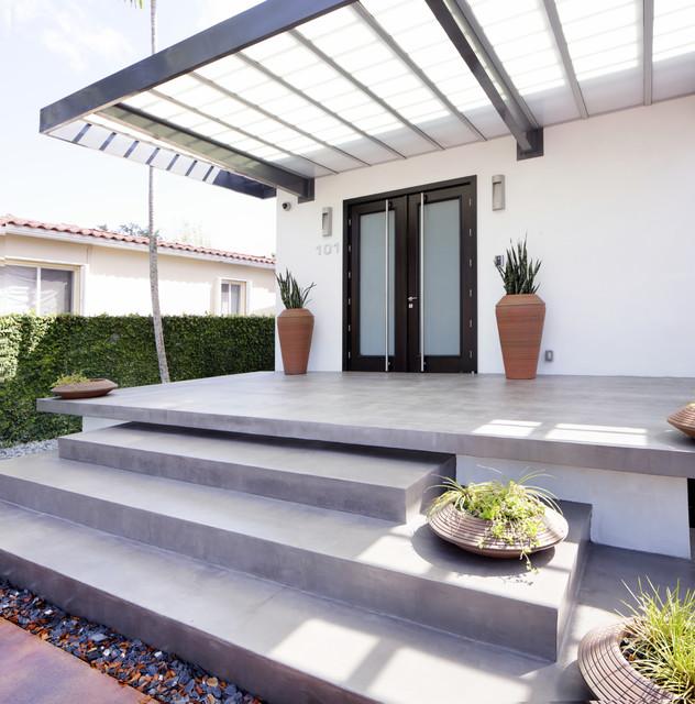 Alvarez Residence Staircase Modern Porch Miami By