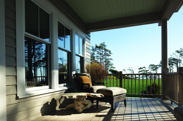 American farmhouse home style traditional verandah