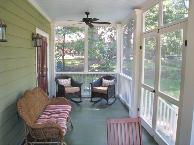 American Small House Renovation Screened Porch